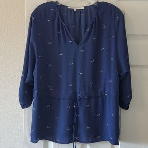 Collective Concept Blue Top in Medium NWOT